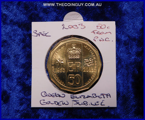 2003 Australian Fifty Cent Coins Golden Jubilee Specimen