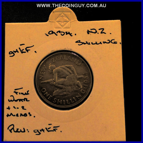 1934 New Zealand Shilling ghEF