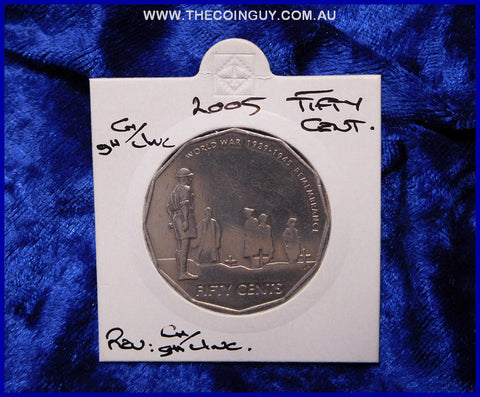 2005 Australian Fifty Cent Coins WW11 Remembers ghCh/Unc