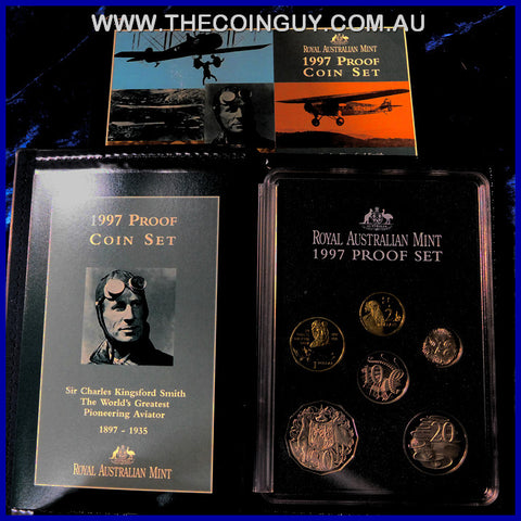 1997 Australian Proof Sets In Box - Sir Charles Kingsford Smith