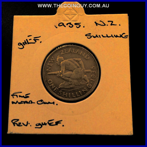 1935 New Zealand Shilling ghEF