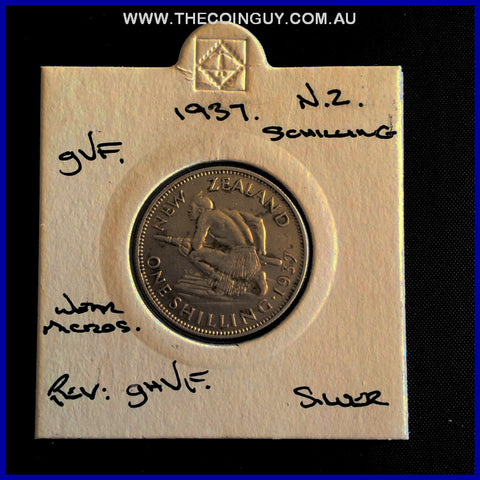 1937 New Zealand Shilling gVF