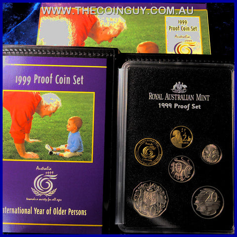 1999 Australian Proof Sets International Year Of Older Persons