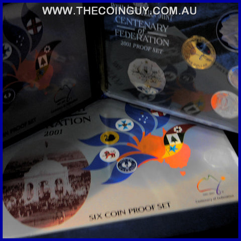 2001 Australian Proof Sets Centenary Of Federation
