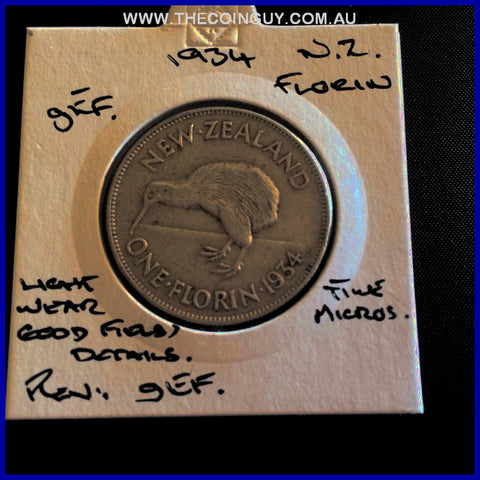 1934 New Zealand Florin gEF