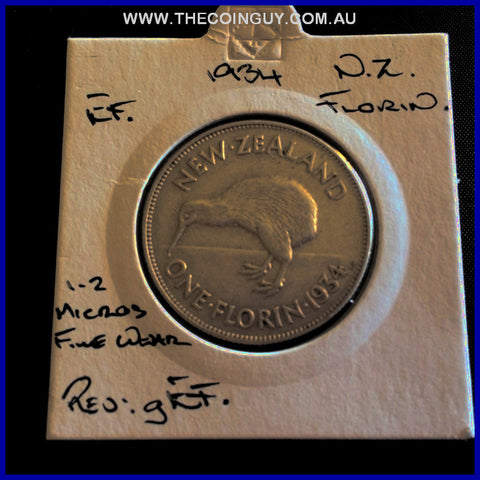 1934 New Zealand Florin EF