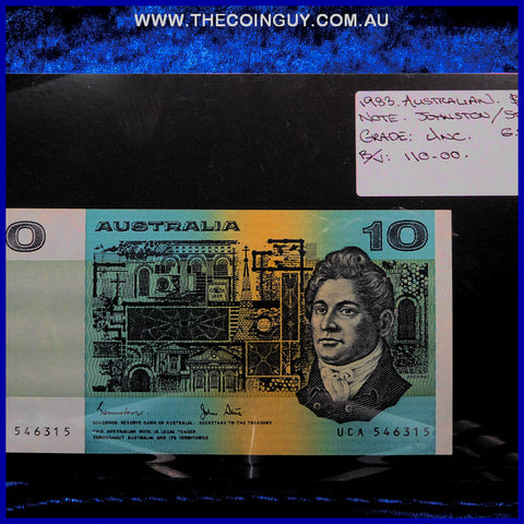 1983 Australian Ten Dollar Notes Unc
