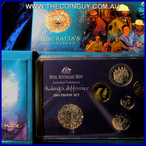 2003 Australian Proof Sets Australia Volunteers