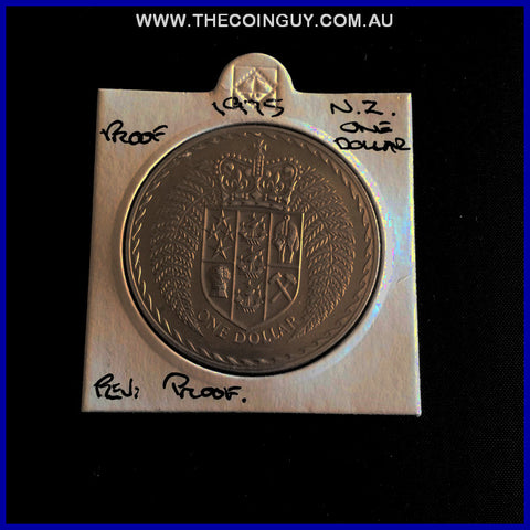 1975 New Zealand One Dollar Proof
