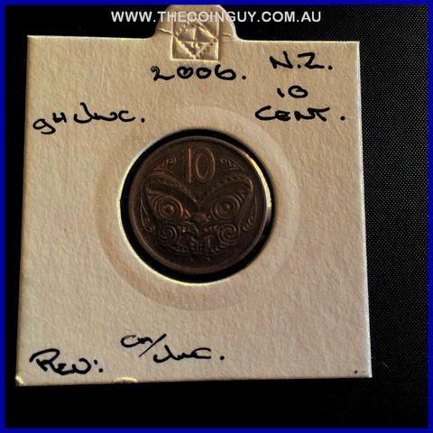 2006 New Zealand Ten Cents ghUnc