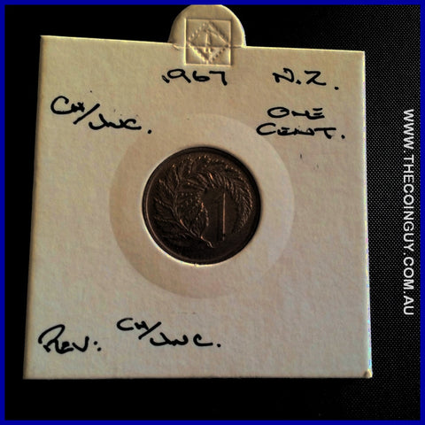 1967 New Zealand One Cents ChUNC