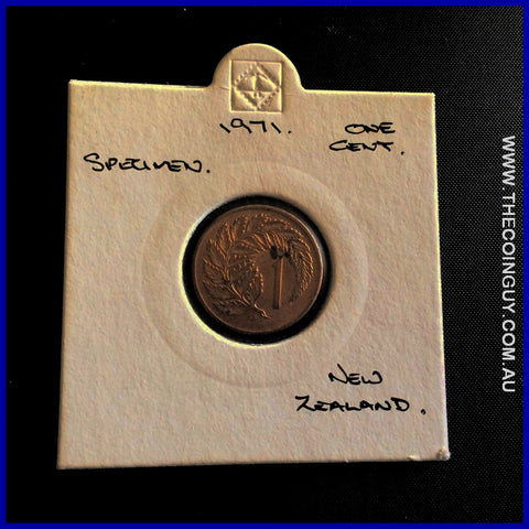 1967 New Zealand One Cents Specimen