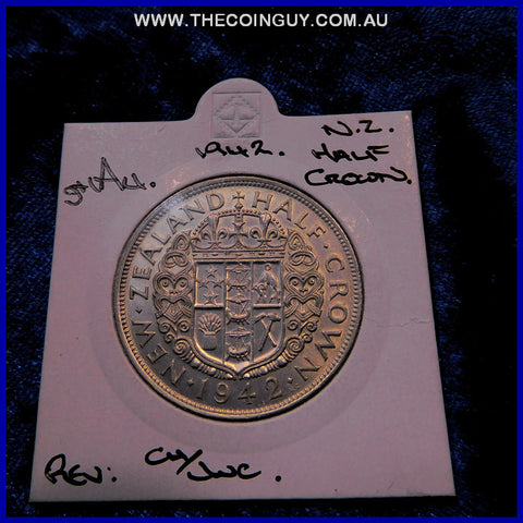 1942 New Zealand Half Crown  ghAU