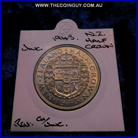 1943 New Zealand Half Crown  UNC
