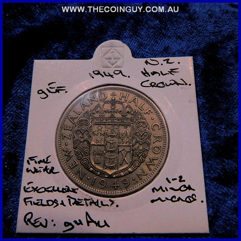 1949 New Zealand Half Crown  gEF