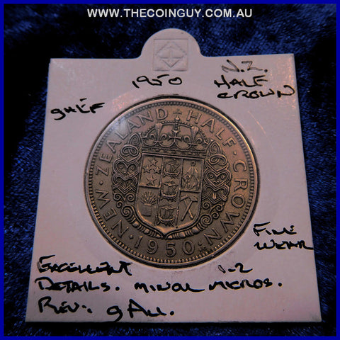 1950 New Zealand Half Crown  ghEF