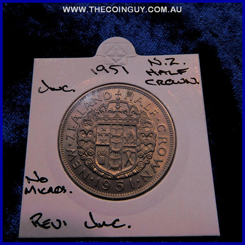 1951 New Zealand Half Crown UNC