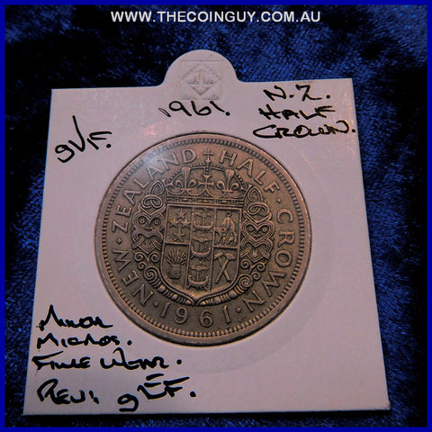 1961 New Zealand Half Crown gVF