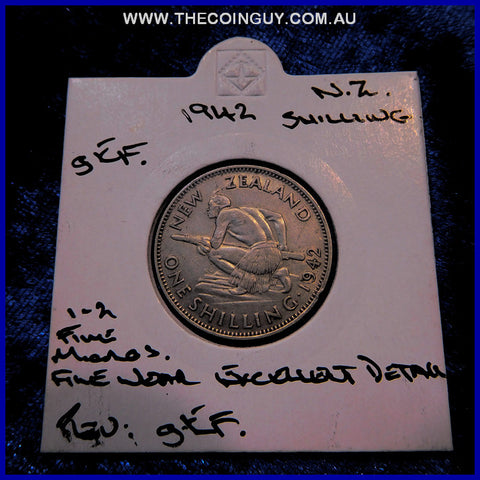 1942 New Zealand Shilling  gEF