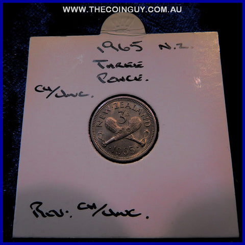 1965 New Zealand Three Pence CHUNC