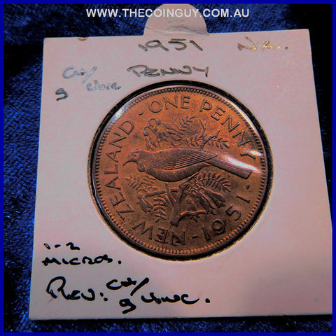 1951 New Zealand Penny  gChUNC