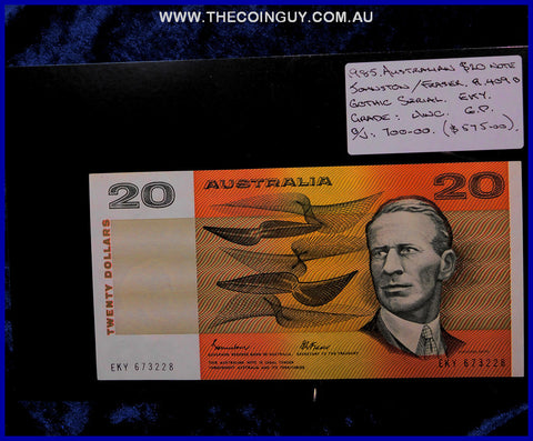 1985 Australian Twenty Dollar Notes Unc
