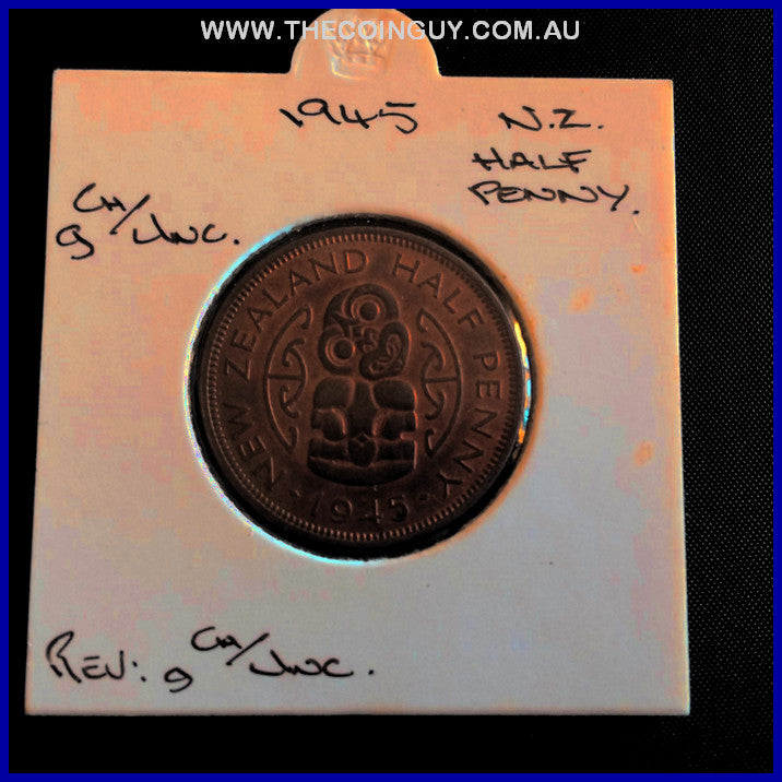 1945 New Zealand Half Penny gChUNC
