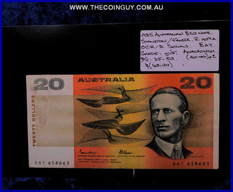 1985 Australian Twenty Dollar Notes gVF