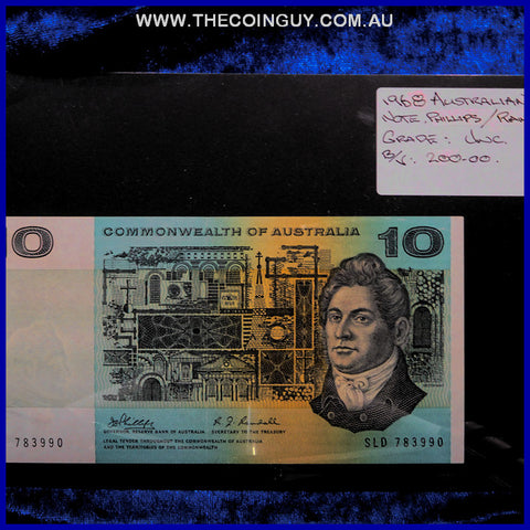 1968 Australian Ten Dollar Notes Unc