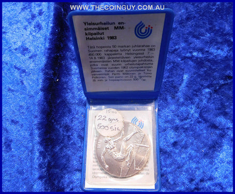 1983 Finland 50 Markkaa  World Athletics Specimen 90 %