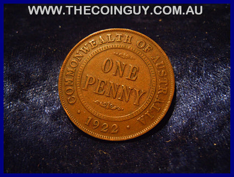 1922 Australian One Penny ghFINE