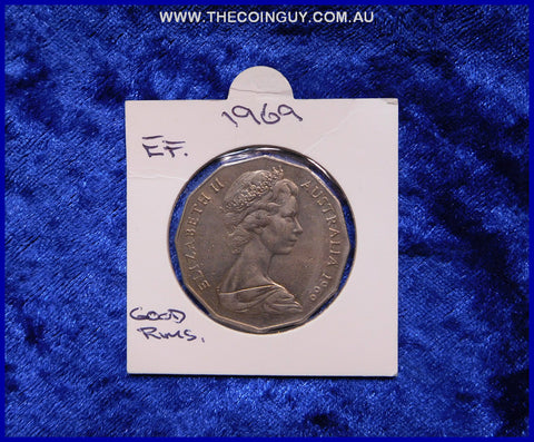 1969 Australian Fifty Cent Coins EF