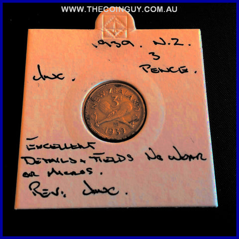 1939 New Zealand Three Pence UNC