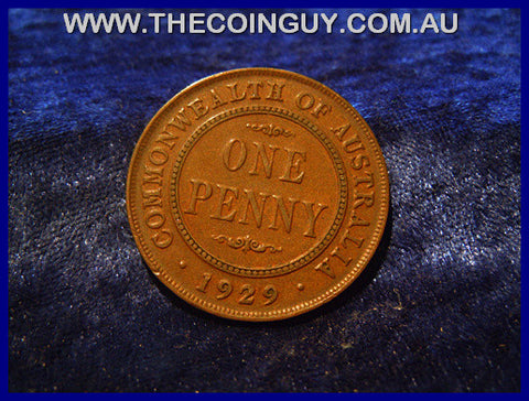 1929 Australian One Penny ghFINE