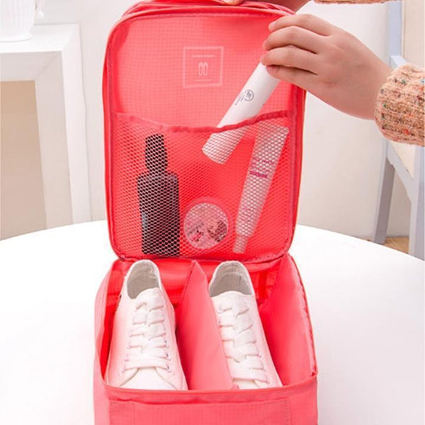 Travel Shoe Organizer - Holds 3 Pairs!