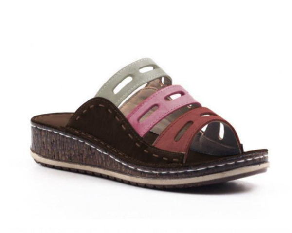 Three Color Stitching Sandals