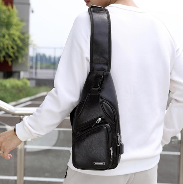 Luxury Crossbody Bag with USB Port