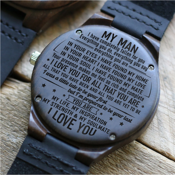 My Man, My Soulmate - Wood Watch