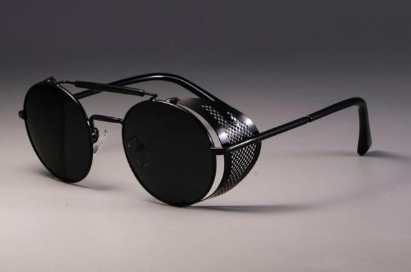 Retro Round Punk Metal Sunglasses