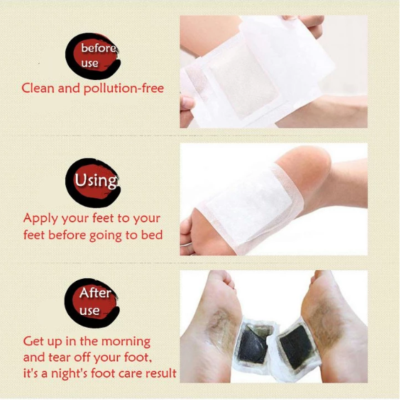 Premium Herbal Detox Foot Pads (Set of 10)
