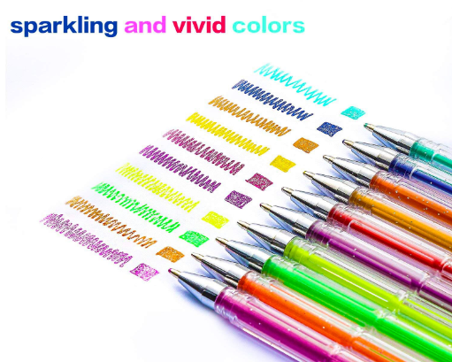 Gel Color Pens for Adult Coloring Books