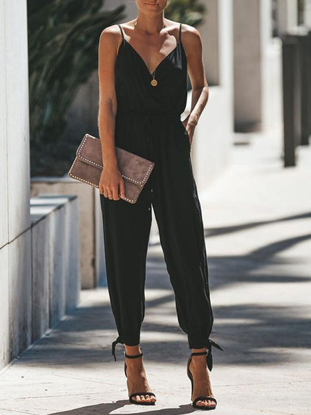 Floral Sleeveless Jumpsuit