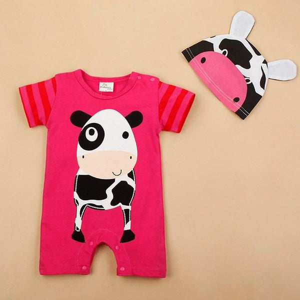 Pink Cow Romper - Free Shipping!
