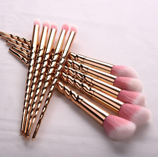 UniHorn™ - 10 Gold Makeup Brush Set!