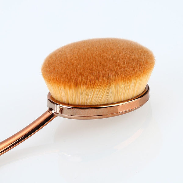 GoldBrush™ - 10 Piece Oval Makeup Brush