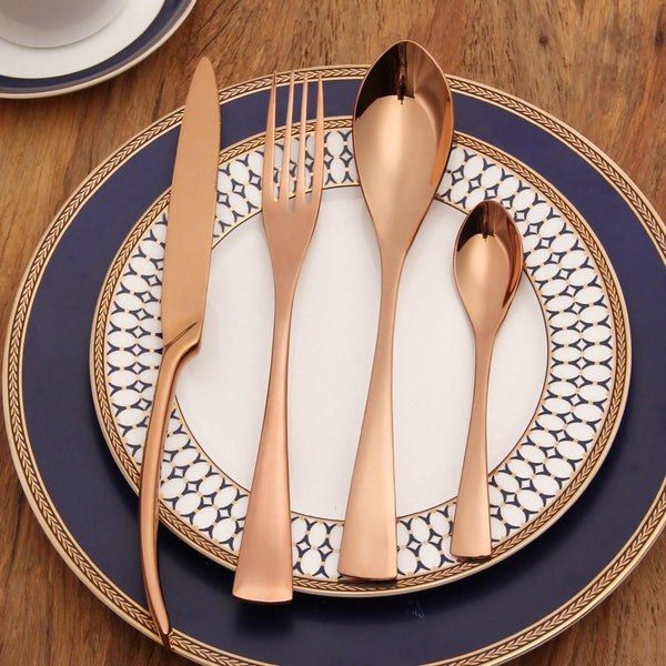 Rose Gold Silverware - 4 Piece Set