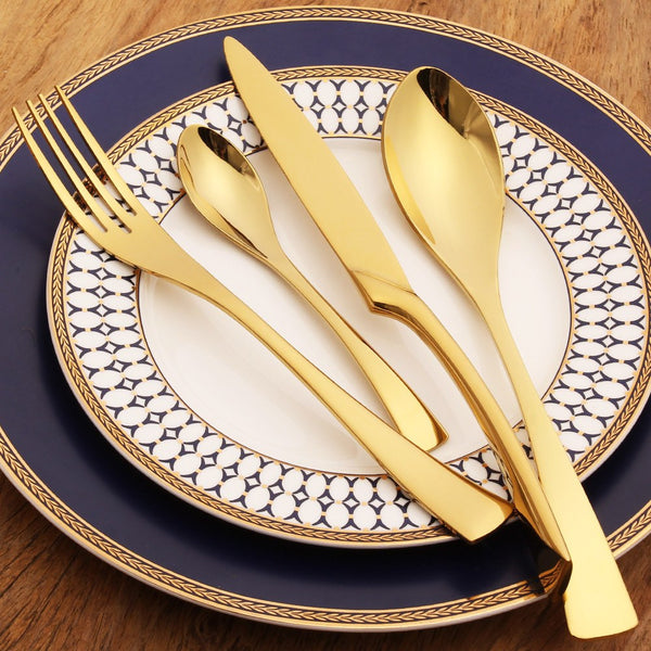 Gold Silverware - 4 Piece Set