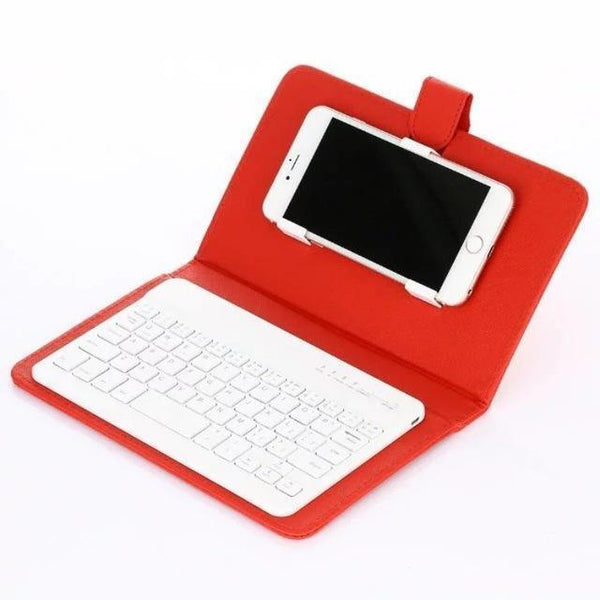 Red Mini iPhone-Android Bluetooth Keyboard
