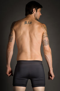 Black Men's Hot Yoga Shorts
