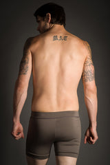 Taupe Hot Yoga Combat Shorts